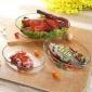 耐热透明玻璃鱼盘家用大号装鱼盘子蒸鱼创意菜盘微波炉烤盘餐具