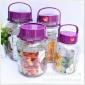 �N售方格泡酒瓶玻璃瓶泡菜��子玻璃梅酒瓶加厚可配���^